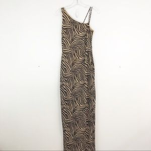 Caché Metallic Maxi Dress (C2)